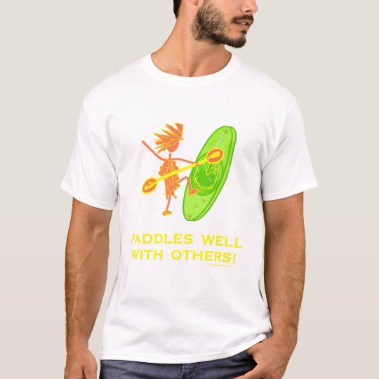 Whitewater Kayak - Paddles Well With Others 2 T-Shirt
