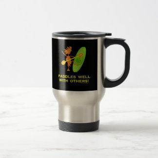 Whitewater Kayak - Paddles Well With Others 2 Travel Mug