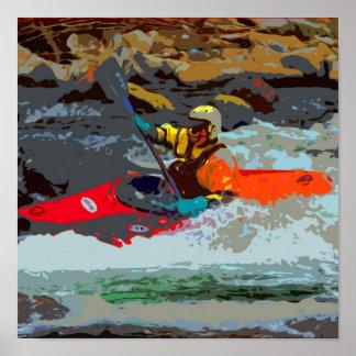 Whitewater Kayak Poster