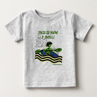 Whitewater Kayak Roll Baby T-Shirt