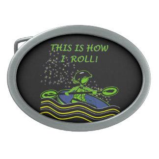 Whitewater Kayak Roll Belt Buckle