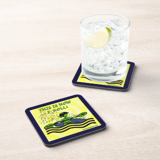 Whitewater Kayak Roll Beverage Coaster