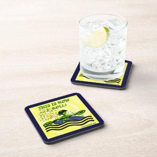 Whitewater Kayak Roll Beverage Coaster