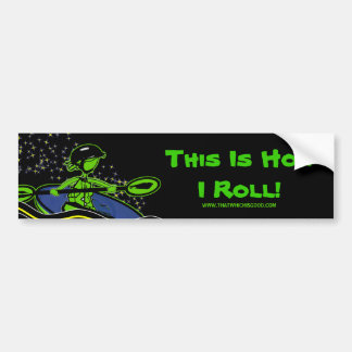 Whitewater Kayak Roll Bumper Sticker