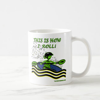 Whitewater Kayak Roll Coffee Mug