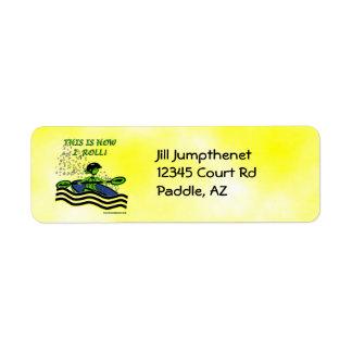 Whitewater Kayak Roll Label