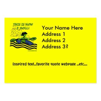 Whitewater Kayak Roll Large Business Card