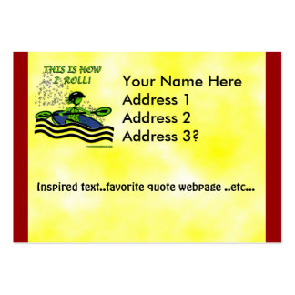 Whitewater Kayak Roll Large Business Cards (Pack Of 100)
