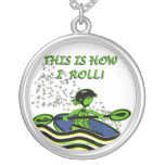 Whitewater Kayak Roll Necklace