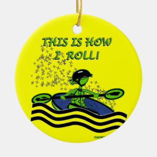 Whitewater Kayak Roll Christmas Tree Ornaments