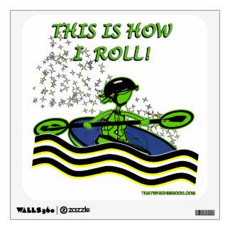 Whitewater Kayak Roll Room Sticker