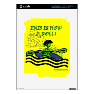 Whitewater Kayak Roll Decals For iPad 3