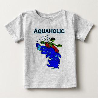 Whitewater Kayaker Aquaholic Blue Green Baby T-Shirt