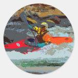 Whitewater Kayaking Classic Round Sticker