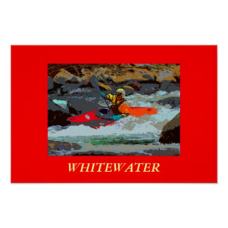 Whitewater Kayaking Photo Poster