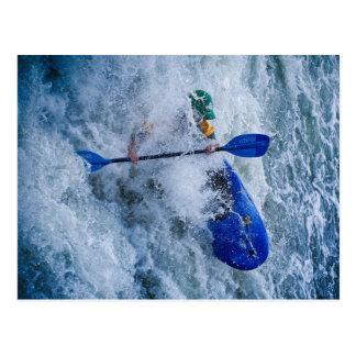 Whitewater Kayaking Postcard