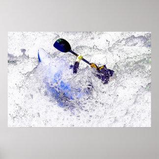 Whitewater Kayaking Poster