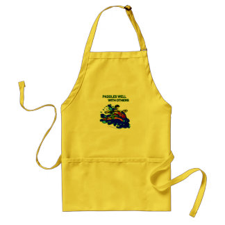 Whitewater Paddles Well With Others Adult Apron