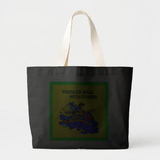 Whitewater Paddles Well With Others Tote Bags