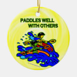 Whitewater Paddles Well With Others Christmas Ornament