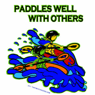 Whitewater Paddles Well With Others Photo Statuette