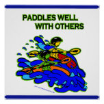 Whitewater Paddles Well With Others Posters