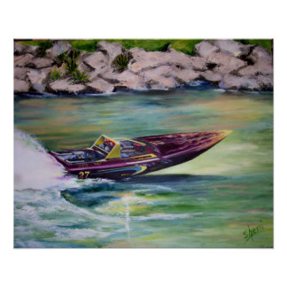 Whitewater Racing Poster