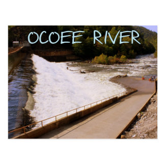 Whitewater Rafting at the Ocoee River Post Card