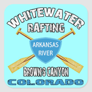 Whitewater Rafting Brown's Canyon Square Sticker