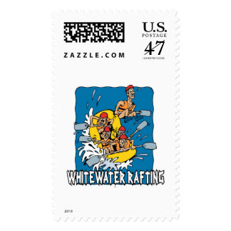 Whitewater rafting postage