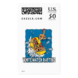 Whitewater rafting postage