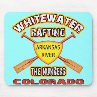 Whitewater Rafting The Numbers Mouse Pad