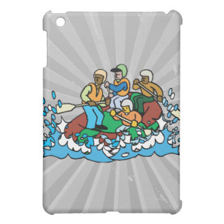 whitewater rafting trip graphic iPad mini covers