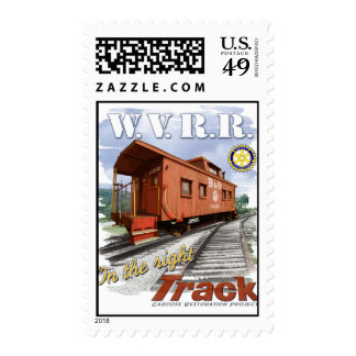 Whitewater Valley Railroad caboose postage stamps