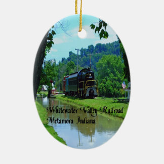 Whitewater Valley Railroad Ceramic Ornament