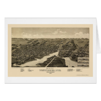 Whitewater, WI Panoramic Map - 1885 Card