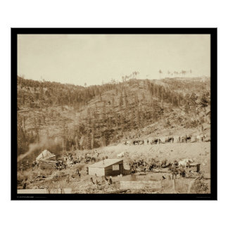 Whitewood Canyon & Wade & Jones RR SD 1890 Poster