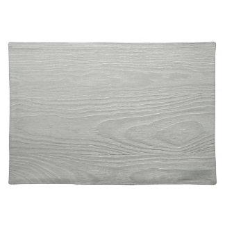 WHITEWOOD LIGHT GREY GRAY WOOD GRAIN TEXTURE TEMPL CLOTH PLACE MAT