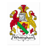 Whitingham Family Crest Post Cards