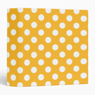 Whitle polka dots on yellow binder