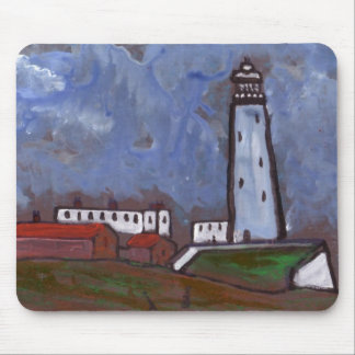 WHITLEY BAY LIGHTHOUSE A LONG TIME AGO MOUSE PAD