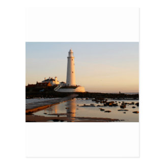 WHITLEY BAY LIGHTHOUSE POSTCARD