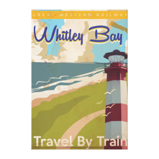 Whitley Bay,North Tyneside Vintage Travel Poster Canvas Print
