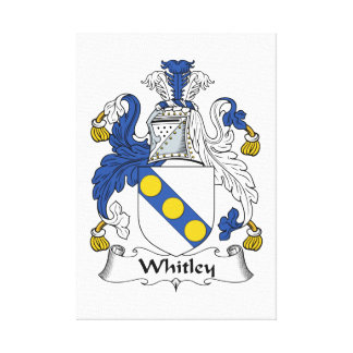 Whitley Family Crest Canvas Prints