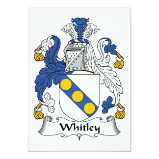 Whitley Family Crest Personalized Announcement