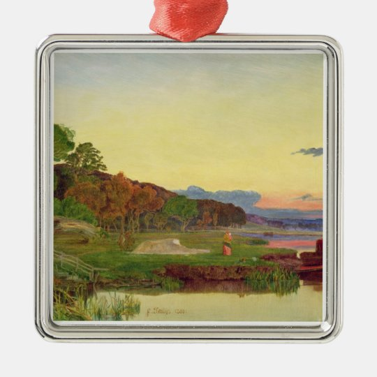 Whitlingham, Norfolk, 1860 (oil on canvas) Metal Ornament