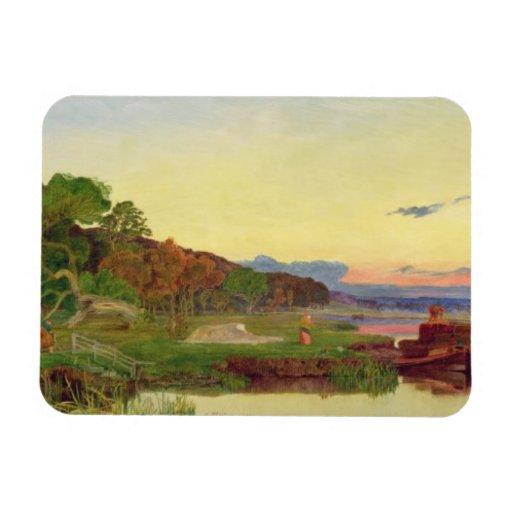 Whitlingham, Norfolk, 1860 (oil on canvas) Rectangular Photo Magnet