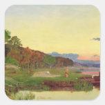 Whitlingham, Norfolk, 1860 (oil on canvas) Square Sticker