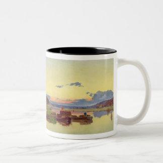 Whitlingham, Norfolk, 1860 (oil on canvas) Two-Tone Coffee Mug