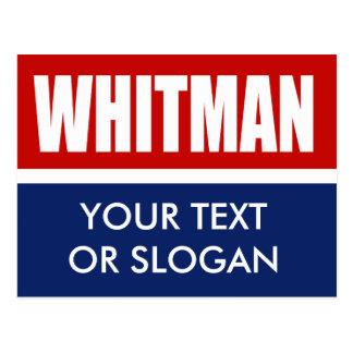 WHITMAN 2012 POSTCARD